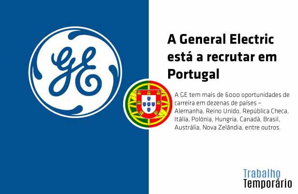A General Electric está a recrutar em Portugal