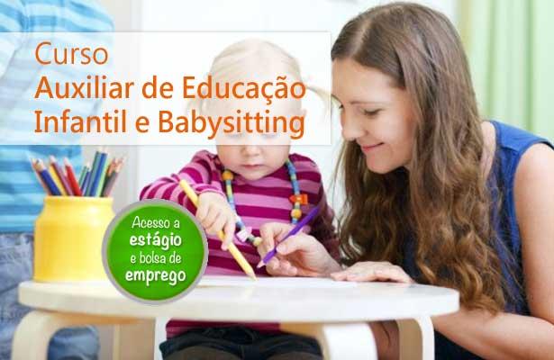 Curso Auxiliar de Educação Infantil e Babysitting