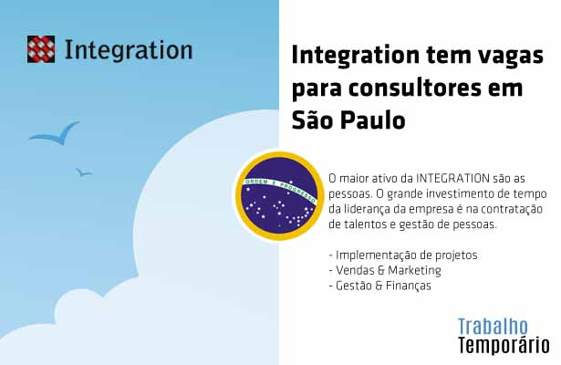Integration tem vagas para consultores em São Paulo