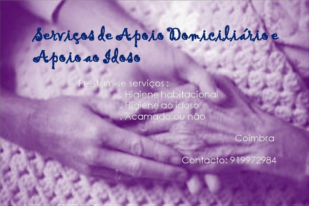 Cuidados assistencial a idosos – Apoio domiciliário