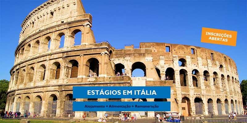 Estágio Remunerado em Itália (Alojamento + Alimentação + Remuneração)