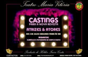 Teatro Maria Vitória – Casting Atrizes e Atores dia 4 de Julho 2016 às 18H